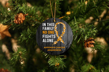 Load image into Gallery viewer, Appendix Cancer Awareness Christmas Ornament