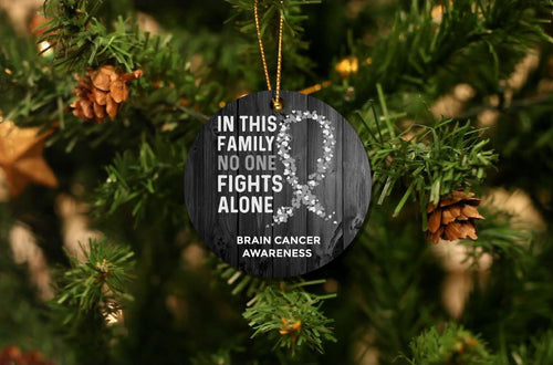 Brain Cancer Awareness Christmas Ornament
