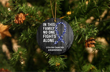 Load image into Gallery viewer, Colon Cancer Awareness Christmas Ornament