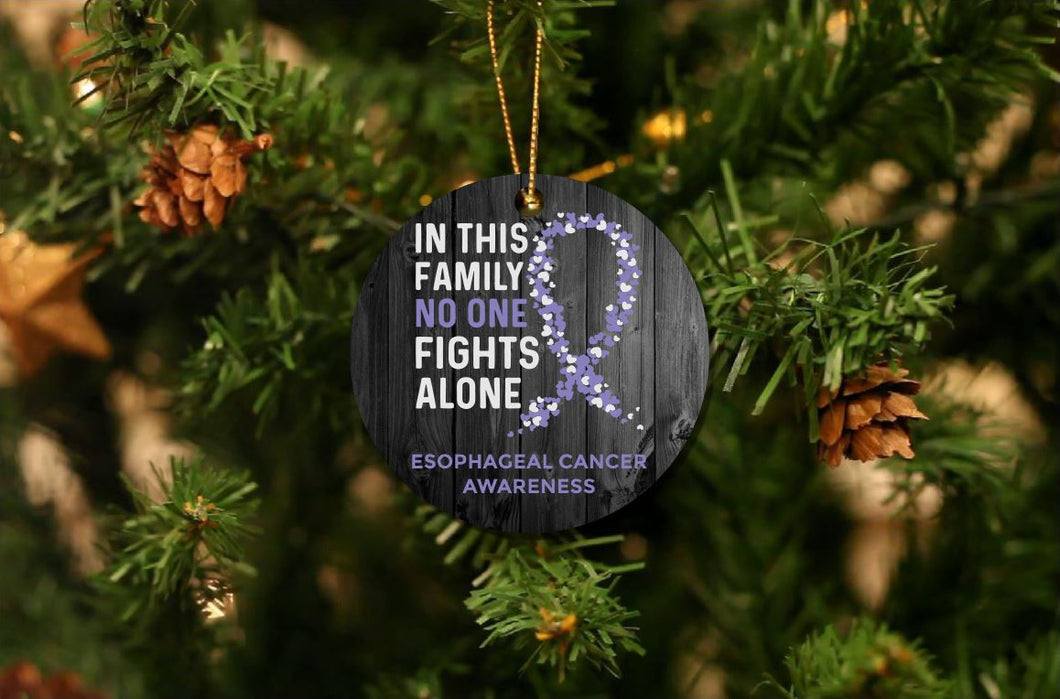 Esophageal Cancer Awareness Christmas Ornament