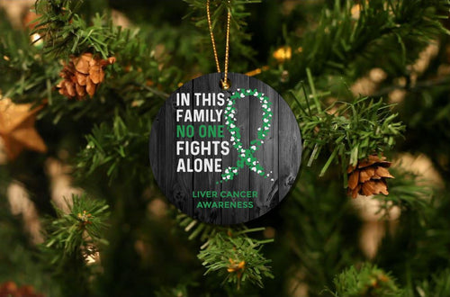 Liver Cancer Awareness Christmas Ornament