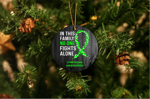 Lymphoma Awareness Christmas Ornament
