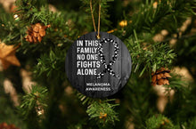 Load image into Gallery viewer, Melanoma Awareness Christmas Ornament