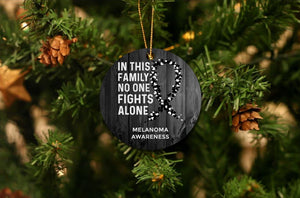 Melanoma Awareness Christmas Ornament