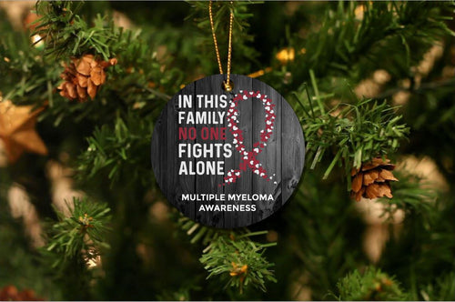 Multiple Myeloma Awareness Christmas Ornament