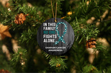 Load image into Gallery viewer, Ovarian Cancer Awareness Christmas Ornament