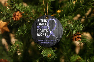 Stomach Cancer Awareness Christmas Ornament