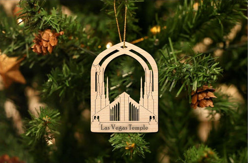 Las Vegas Temple Christmas Ornament