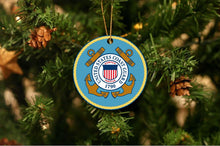 Load image into Gallery viewer, US Coast Guard Christmas Ornament