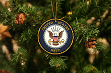 Load image into Gallery viewer, US Navy Christmas Ornament