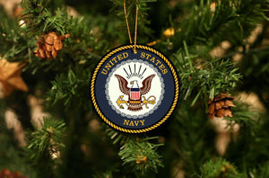 US Navy Christmas Ornament