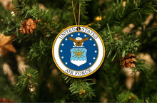 Load image into Gallery viewer, US Air Force Christmas Ornament
