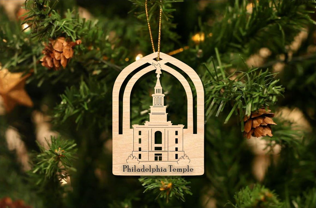 Philadelphia Temple Christmas Ornament