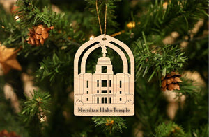 Meridian Idaho Temple Christmas Ornament