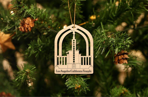 Los Angeles California Temple Christmas Ornament