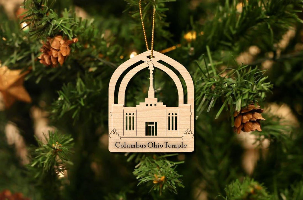 Columbus Ohio Temple Christmas Ornament