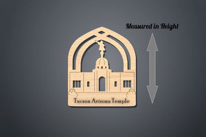 Tucson Arizona Temple Christmas Ornament