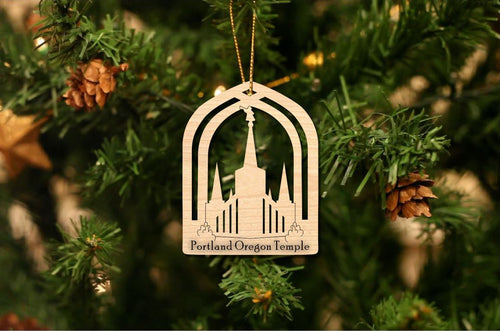 Portland Oregon Temple Christmas Ornament