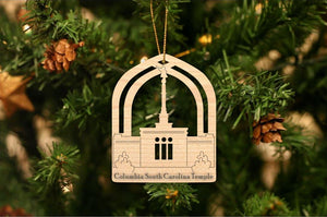 Columbia South Carolina Temple Christmas Ornament