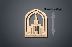 Panama City Panama Temple Christmas Ornament