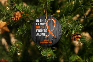 ADHD Awareness Christmas Ornament