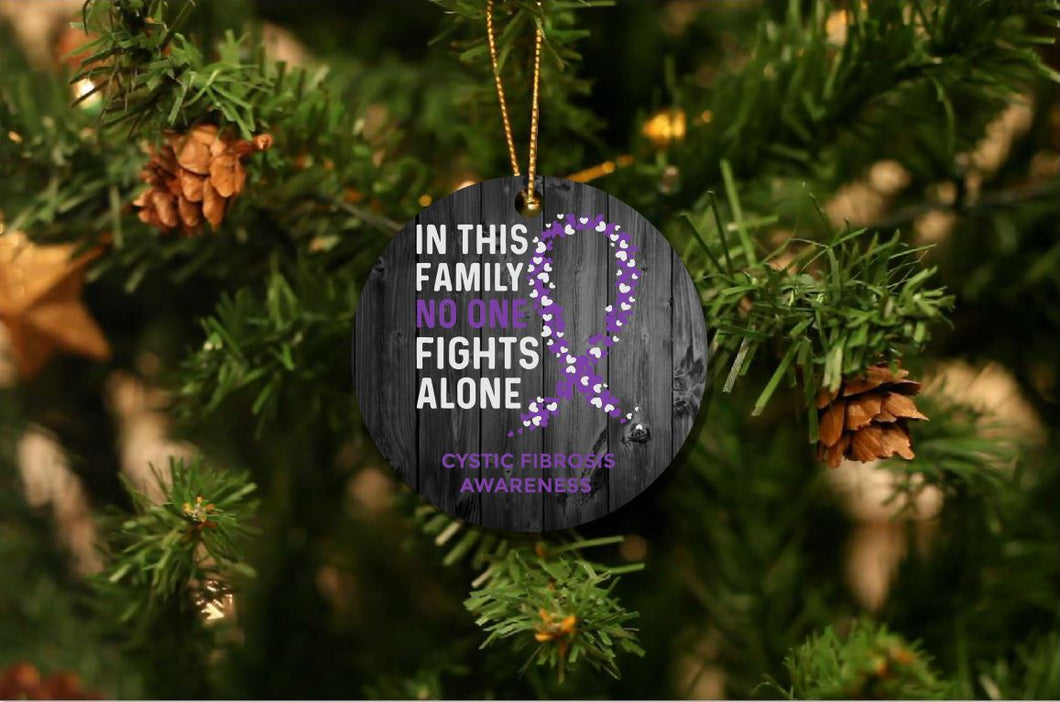 Cystic Fibrosis Awareness Christmas Christmas Ornament