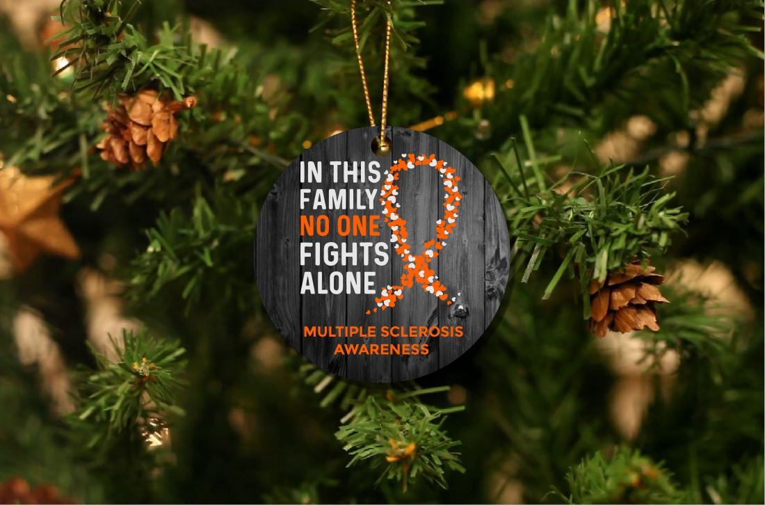 Multiple Sclerosis Awareness Christmas Ornament