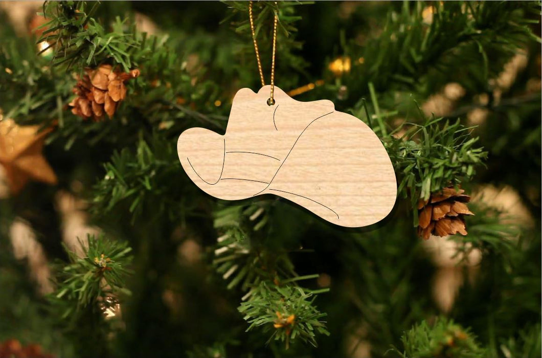 Cowboy Hat Christmas Ornament
