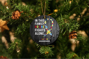 Autism Awareness Christmas Ornament