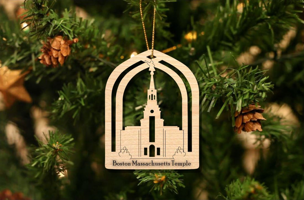 Boston Massachusetts Temple Christmas Ornament
