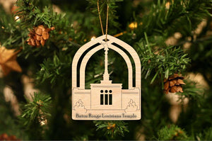 Baton Rouge Louisiana Temple Christmas Ornament