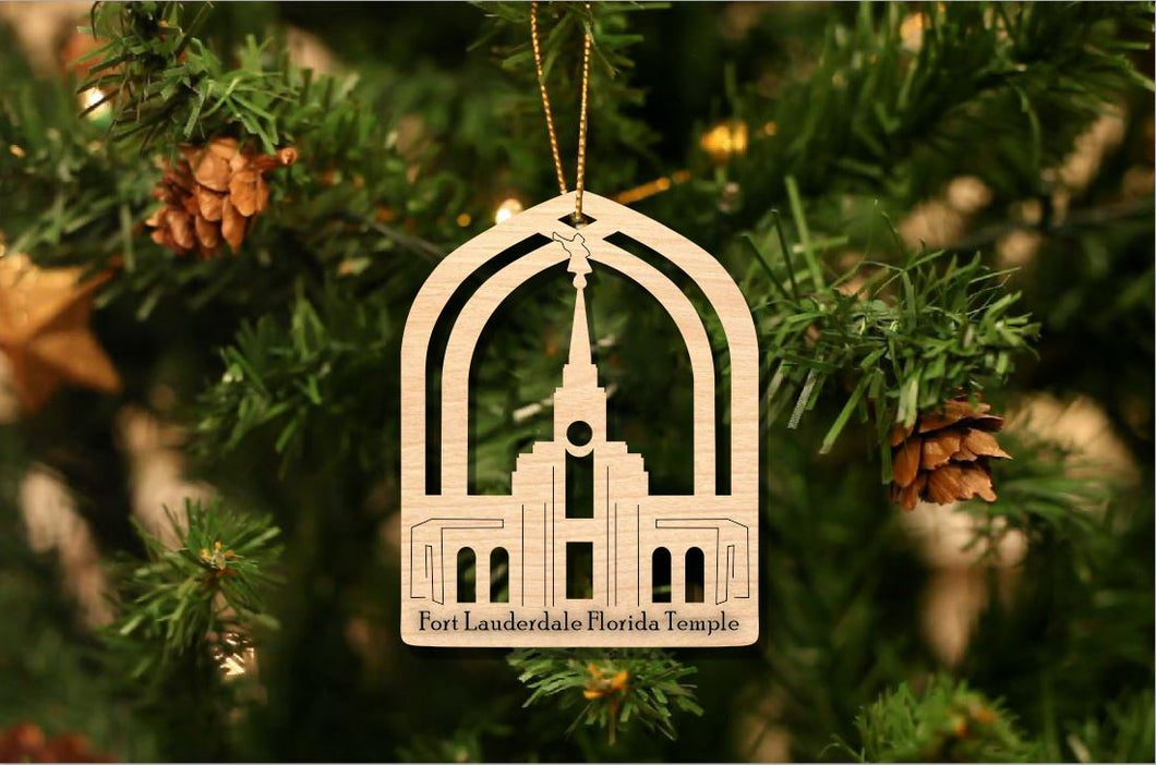 Fort Lauderdale Florida Temple Christmas Ornament