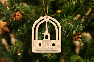Helsinki Finland Temple Christmas Ornament