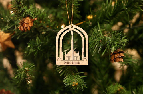 Dallas Temple Temple Christmas Ornament