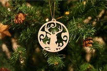 Load image into Gallery viewer, Deer Head Christmas Ornament
