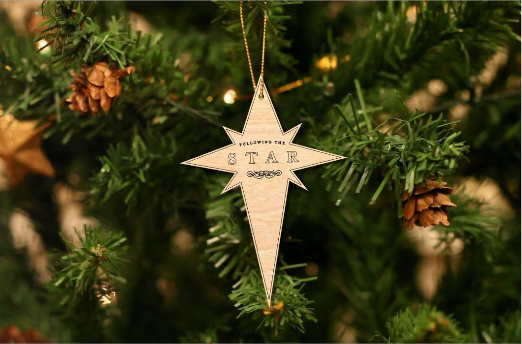 Following the Star Christmas Ornament