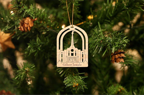 Gilbert Arizona Temple Christmas Ornament