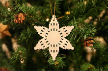 Load image into Gallery viewer, Logan Temple Snowflake Christmas Ornament