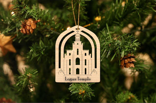 Logan Temple Christmas Ornament