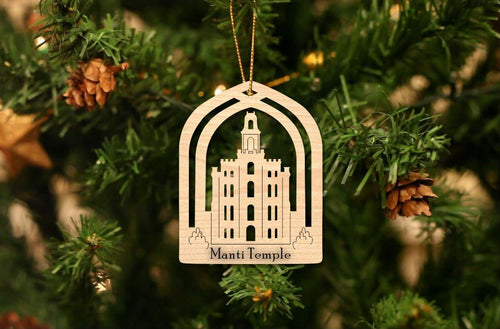 Manti Temple Christmas Ornament