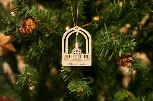 Atlanta Temple Christmas Ornament