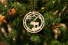 Load image into Gallery viewer, Moose Christmas Christmas Ornament