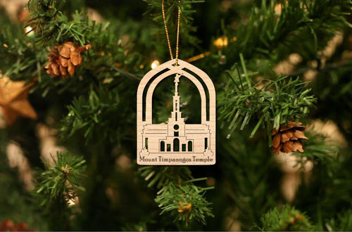Mount Timpanogos Temple Christmas Ornament