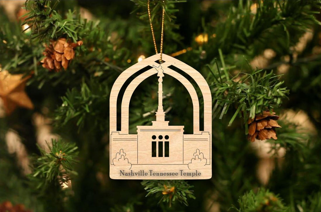 Nashville Temple Christmas Ornament