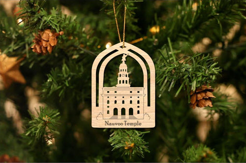 Nauvoo Temple Christmas Ornament