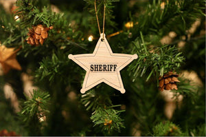 Sheriff Christmas Ornament