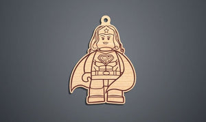Superhero Supergirl Christmas Ornament