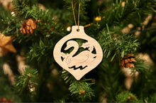 Load image into Gallery viewer, Swan Christmas Ornament
