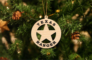 Texas Ranger Christmas Ornament