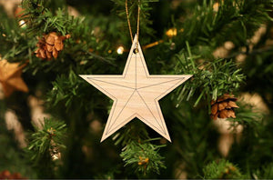Texas Star Christmas Ornament